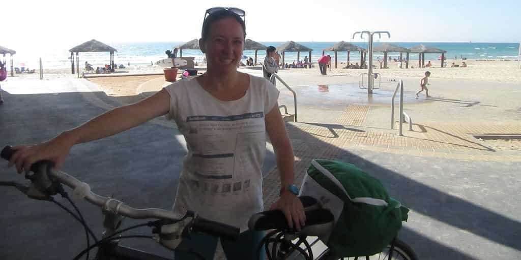 Me-at-Ashdod-beach Introducing Samantha, Your Israel Tour Guide