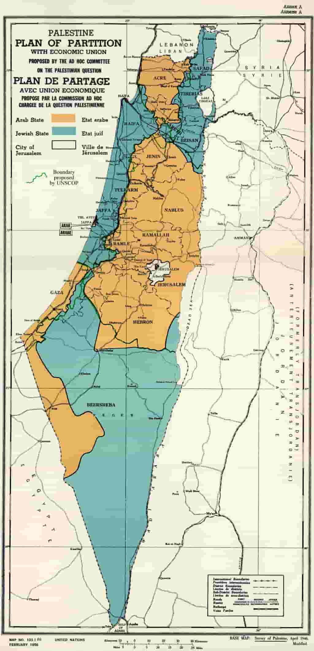 UN_Palestine_Partition_Versions_1947 70 Years Since the UN Partition Plan Vote